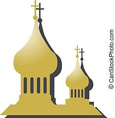illustration, byggnad, eps, vektor, kyrka, 10