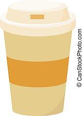 illustration, café blanc, tasse, vecteur, arrière-plan.