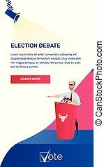 Illustration Candidate Speaking in Election Debate