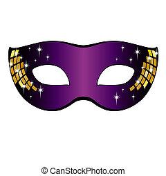 illustration., carnaval, mask., vecteur