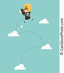 Illustration Cartoons concepts Freedom of thought To make a successful