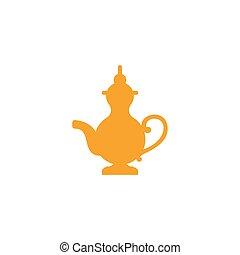 illustration., celebración, islámico, ramadan, tetera, ...