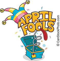 April Fools' Day - Illustration Celebrating April Fools' Day