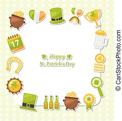 Celebration Card with Traditional Symbols for St. Patricks Day