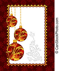 celebration Christmas card with balls
