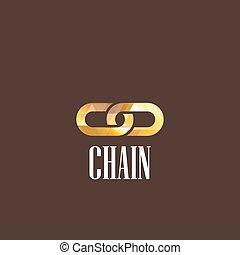 illustration, chaîne, icône