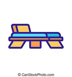 illustration, chaise, contour, dos, vecteur, pont, icône, bois