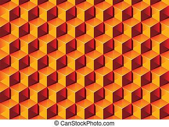 illustration., chaud, pattern., boîtes, couleurs, vecteur, transparent, 3d