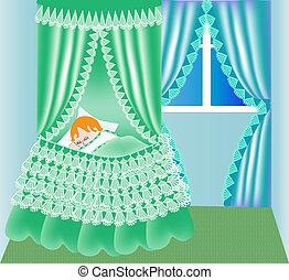 child in cribs sleeps - illustration child in cribs sleeps...