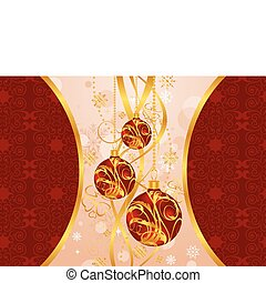 Christmas background with set balls