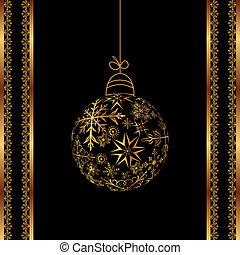 Christmas ball made of snowflakes isolated