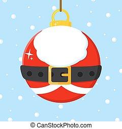 Illustration-Christmas Ball With Santa Claus Costume