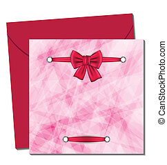 Christmas beautiful card with gift bow