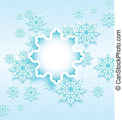 Christmas bubble with set snowflakes