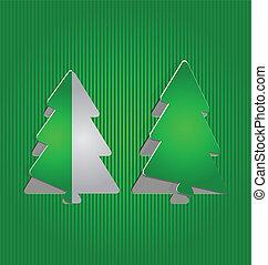 Christmas cutout paper tree, minimal background