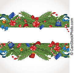 Christmas elegance card with holiday decoration