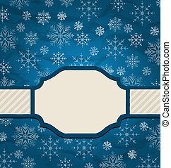 Christmas elegant card with snowflakes