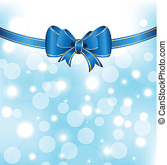 Christmas elegant packing with bow