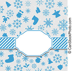 Christmas greeting card with copy space for yout text
