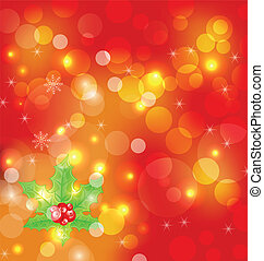 Christmas holiday wallpaper with decoration