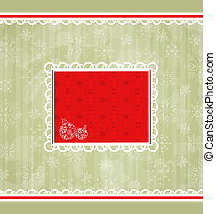 Christmas retro card, ornamental design elements