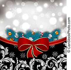 Christmas traditional background with decoration