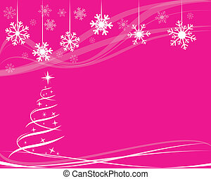 christmas tree for greeting card