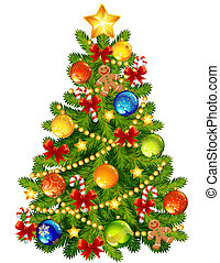 Christmas tree -  illustration - Christmas tree