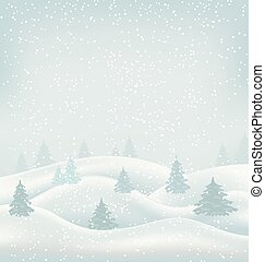 Christmas Winter Landscape