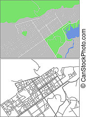 Islamabad - Illustration city map of Islamabad in vector.