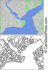Istanbul - Illustration city map of Istanbul in vector.