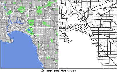 Melbourne - Illustration city map of Melbourne in vector.