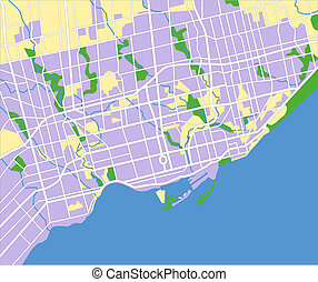 Toronto - Illustration city map of Toronto in vector.
