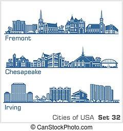 illustration., ciudades, detallado, architecture., moderno, ...