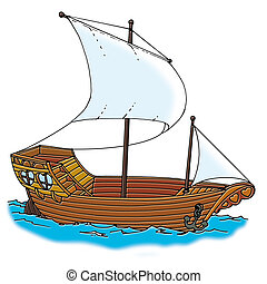 galleon ship - illustration classic, galleon ship