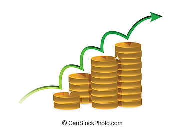 illustration coins of financial success