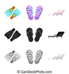 illustration., collection, bitmap, illustration, activité, natation, logo., piscine, stockage