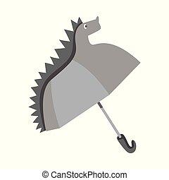 illustration., collezione, vettore, disegno, monsone, parasole, logo., bambini, casato