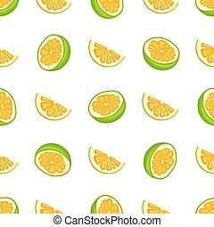 illustration, coloré, pomelo, seamless, grand, thème