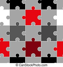 illustration., coloré, puzzle, pattern., seamless, vecteur, fond