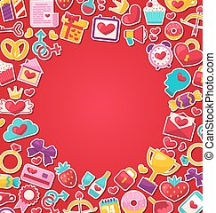 Colorful Background for Valentine's Day
