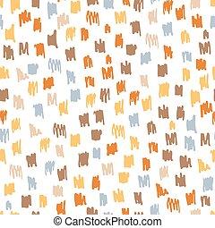 illustration., coloridos, modernos, pattern., seamless, trendy, vetorial, tinta, sujo, rabisco