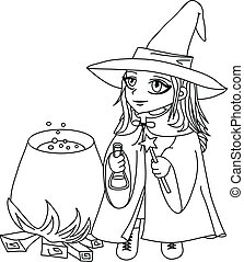 Witch lineart 2