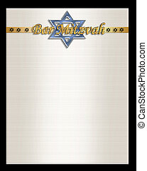 Bar Mitzvah invitation template - illustration composition...