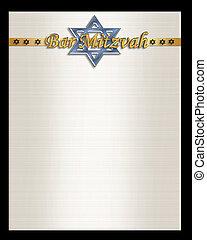 Bar Mitzvah invitation template