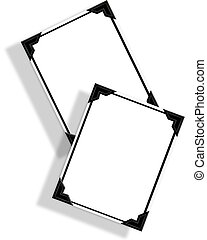 Illustration composition of Snapshot frames with mounting tabs for background or scapbook page