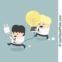 Illustration Concept Cartoons Business get an idea