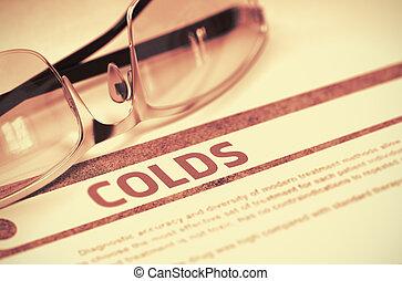 illustration., concept., -, colds., diagnózis, orvosi, 3