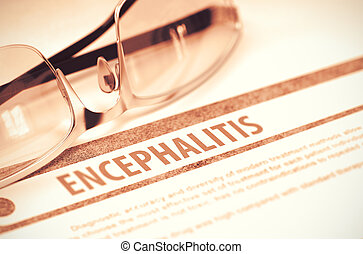 illustration., concept., -, encephalitis., diagnostic, médecine, 3d