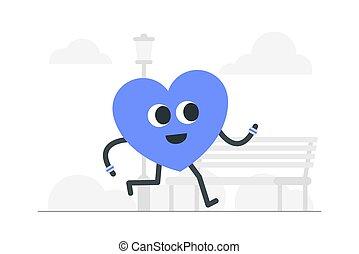 illustration., concept, geestelijke gezondheid